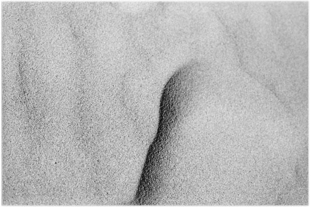 Footprints on the sandy beach at Santa Barbara