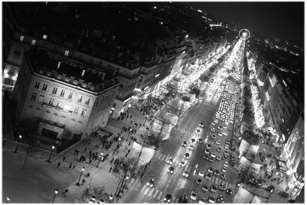 The Champs Elysées in Paris