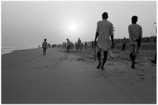 India, Puri at sunset