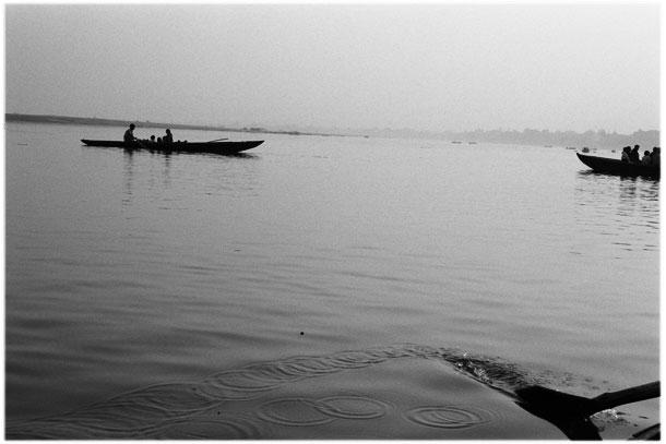 Cross the River Ganges in Varanasi, India