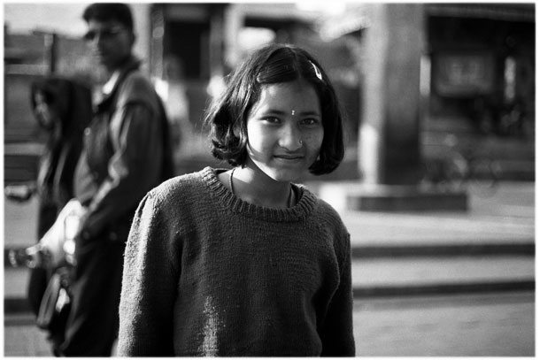 Nepal, the girl of Patan