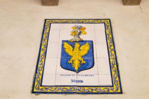 Carmel mission embedded tile art