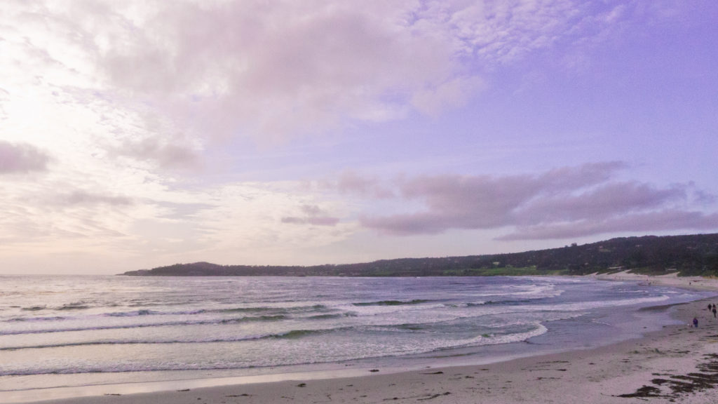 Carmel beach at twilight